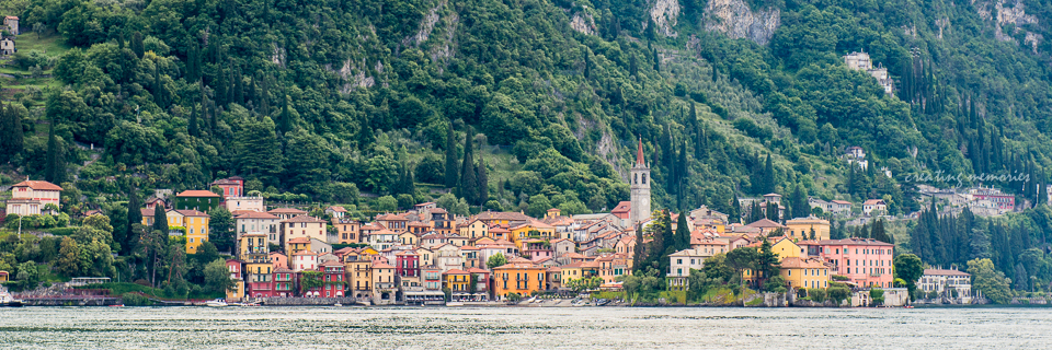 Varenna, the eastern town situated across from Menaggio and Bellagio