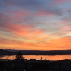 The different sunsets over Lake Zug
